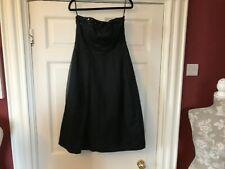100% Silk Black Strapless Monsoon Cocktail Party Dress UK Sz 10