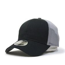 New Plain Cotton Twill Mesh Adjustable Snapback Trucker Baseball Cap