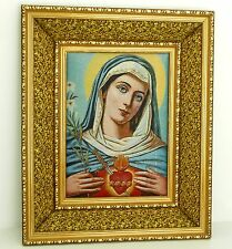 St Mary's heart / Christian wall frame / Home decorative