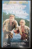 Six Days Seven Nights (1998): South Seas Island Adventure - Harrison Ford - VHS