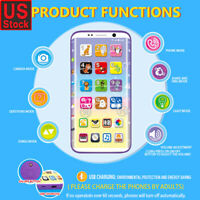 Educational Smart Phone Toy With USB Port Touch Screen for Child Kid Baby US