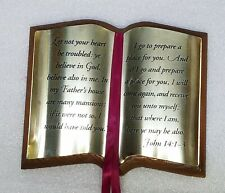 """Home Interior Homco""""Bible Plaque(John 14:1)"""" Let not your heart be troubled """""""
