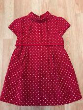 Bella Bliss Girls Red cotton dress Size 5 Portrait church party