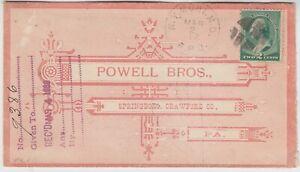 USA 1889 printed envelope NEW YORK-SPRING BORO PENNSYTLVANIA with MALTESE CROSS