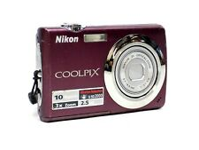 Nikon CoolPix S220 Plum 10.0MP Digital Camera 2.5 LCD 3X Zoom Camera Only
