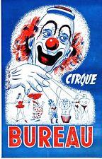 Programme Cirque Bureau année 1950