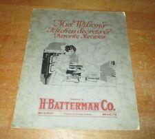 Vintage 1921 Mrs. Wilson'S Household Manual Kitchen Secrets & Favorite Recipes