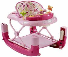 MYCHILD Walk N Rock Musical Baby Walker Rocker With Musical Play Tray - Pink