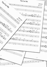 VIA CON ME ( PAOLO CONTE ) - Bass Score with Tab & Chords