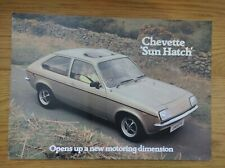 Vauxhall Chevette Sun Hatch 3-dr Limited Edition 1980 Original UK Brochure V2467