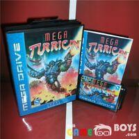 Mega Turrican Game Cartridge for SEGA Mega Drive Boxed Manual Europe Version PAL