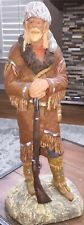 "Daniel Monfort ""Mountain Man"" Orig. Western Hydro Stone Sculpture 15"" Gray Hat"
