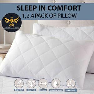 Luxury Ultra Loft Jumbo Super Bounce Back Pillows - 1, 2, 4 Pack