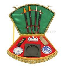 Chinese Calligraphy Writing Brush Pen Ink Mixing Inkstone Painting Tool Box  B