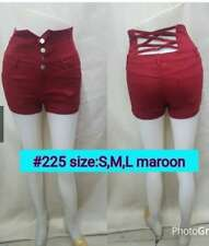 HIGH WAIST SHORTS (MAROON) MEDIUM