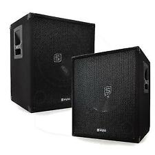 "Skytec 18"" Subwoofer Active DJ PA Karaoke Party Speaker 2000w Pair"
