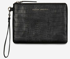 Status Anxiety Ladies Fixation Leather Clutch - Black