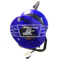 15M 20M 25M 30M 40M 50M EXTENSION CABLE REEL 240V FREESTANDING 13A 4 SOCKET GANG