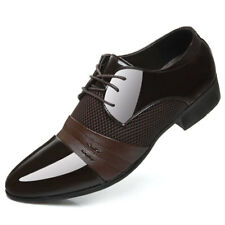 Men's Pointy Toe Oxford Leather Shoes Formal Dress Business Casual wedding Party