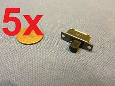 5x - Mini SPDT Slide Switch On-Off PCB 6P 2T 23.3*7.3MM pitch row 19MM toggle c1