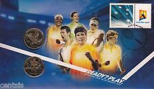 2012 Australian Open Tennis Grand Slam Dual $1 Coin - PNC Stamp & Coin Cover