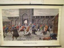 Vecchio Lavagna didattica Guerra di liberazione d Wormser Bürger Vintage deco