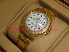 Rolex Oyster Perpetual Yachtmaster 18kt Yellow Gold Oyster 40mm White Dial 16628