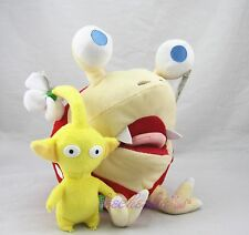 Pikmin Bulborb Chappy & Yellow Flower Soft Plush Doll Stuffed Animal SET