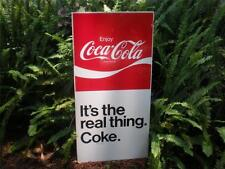 RARE ENJOY COCA COLA 70'S IT'S THE REAL THING TIN SIGN A GREAT CHRISTMAS GIFT