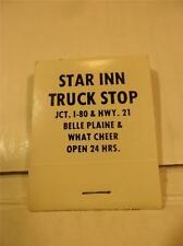 VINTAGE FULL BOOK STAR INN TRUCK STOP JCT. I-80 & HWY 21 MATCHBOOK