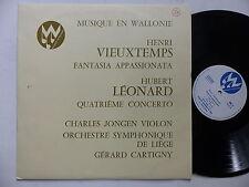 Musique en Wallonie HENRI VIEUXTEMPS HUBERT LEONARD CHARLES JONGEN G. CARTIGNY