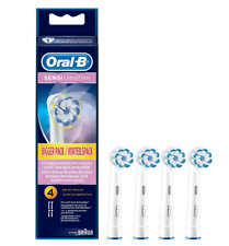 Braun Oral B Sensi Ultrathin Toothbrush Heads 4 Pack,NEW GENUINE SEALED FREE P&P