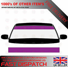 GLOSS PURPLE WINDSCREEN SUNSTRIP 1800mm x 190mm VAN DECALS GRAPHICS STICKERS