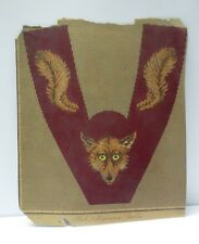 ANTIQUE BERLIN HAND PAINTED WOOL WORK EMBROIDERY TAPESTRY PATTERN FOX DESIGN