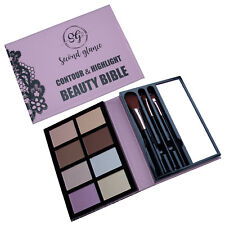 Make Up Set Contour & Highlight Beauty Bible Glow Palette Kit Gift Brushes Guide