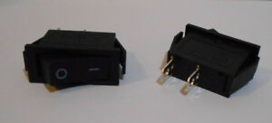 Lot of 10 SPDT ON-OFF Black Rocker Switch KCD3 20A/125VAC 15A-250VAC 2 Post