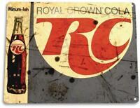 Royal Crown RC Cola Soda Rustic Retro Beverage Cola Metal Sign