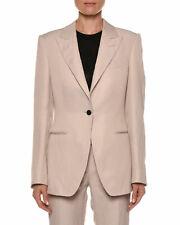 TOM FORD Peak Lapel One Button Viscose Linen Jacket Blazer Light Pink Color BNWT