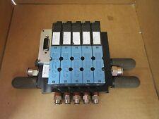 MAC Solenoid Valve Bank w. (5) Solenoid Valves 47A-LB3-HDAP-1FC 24 VDC Used