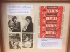 The Beatles A&BC Bubblegum Facsimile signed Autograped photo Prints 1964 Framed