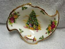 Royal Albert  Old Country Roses Christmas Magic Curved Candy Dish