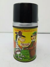 Vintage 1961 Huckleberry Hound and His Friends Aladdin Lunchbox Thermos