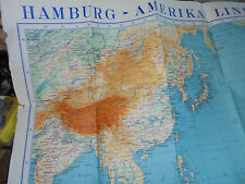 13164 Hamburg Amerika Linie HAPAG Karte Asien Australien Ravenstein GmbH Frankf