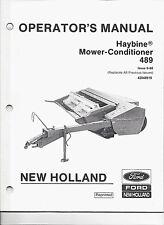 New Holland 489 Hay-Bine Mower-Conditioner Operator's Manual 42048918