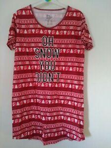 CHRISTMAS XMAS LADIES GIRLS PETITE TO PLUS NIGHT DRESS SHIRT PYJAMAS NIGHTWEAR