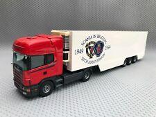 Tekno Scania 144L 460 Tractor Unit & Fridge Trailer Scania in Belgium 50th 1:50