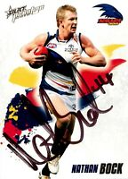 ✺Signed✺ 2010 ADELAIDE CROWS AFL Card NATHAN BOCK