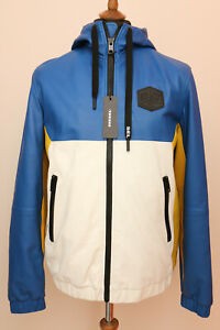 Diesel Lambskin L-Carr mens hooded jacket  Size Medium