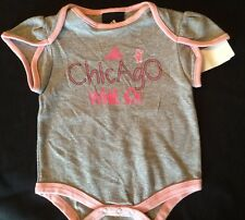 Adidas Chicago White Sox MLB Baseball Girl's Baby One Piece Onesee 3/6 Months