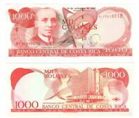 COSTA RICA UNC 1000 Colones Banknote (2005) P-264f Series D Paper Money